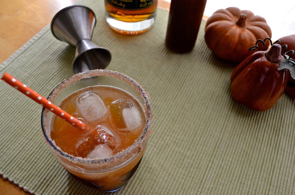 Pumpkin Spice Bourbon Fizz | Pale Yellow