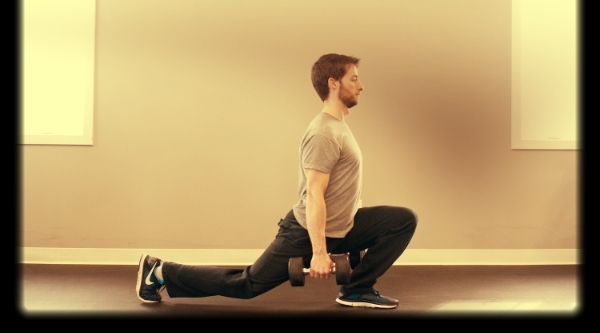Full depth split squat front foot flat (FFF)