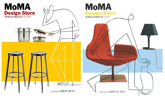 2 of 4 covers for MoMA Design Store's retail catalog