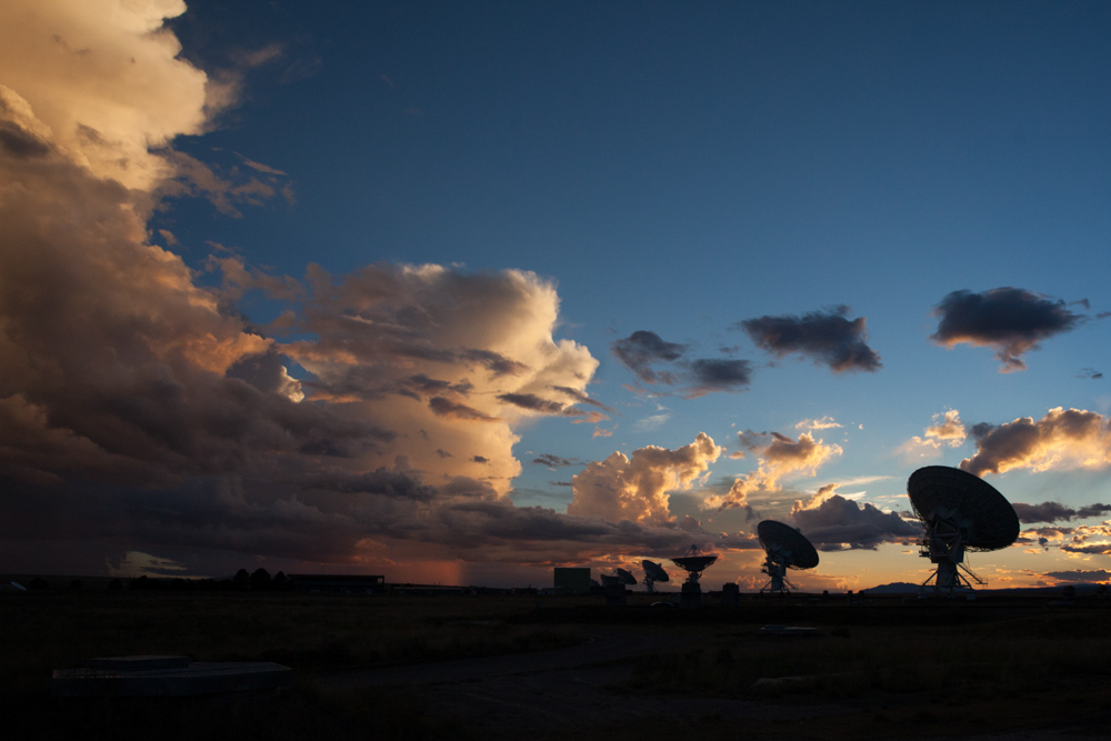 Sunset photo of the Very Large Array in New Mexico. Taken while shooting domes and backplates for GMC vehicle.
