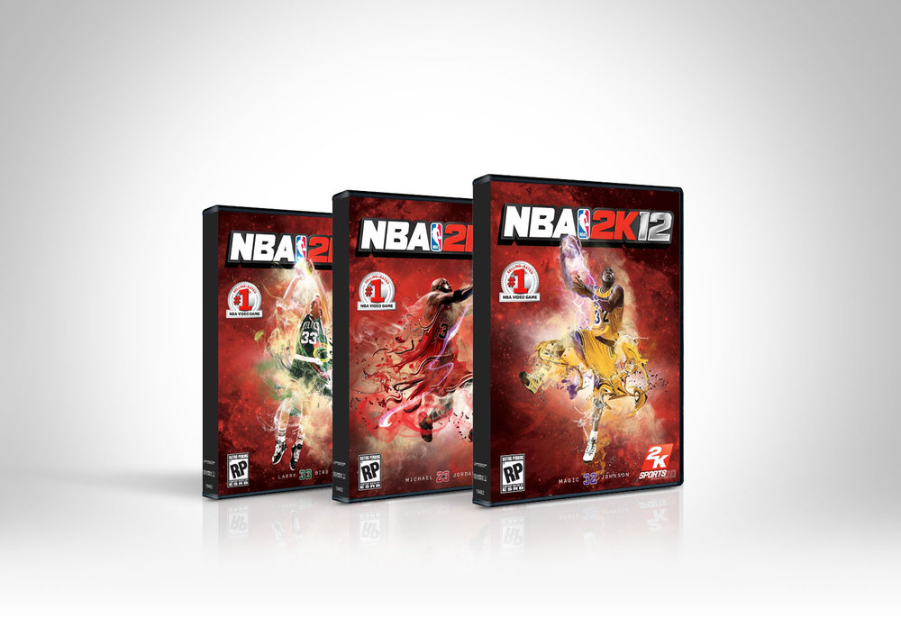 NBA2K12 Packaging Illustrations