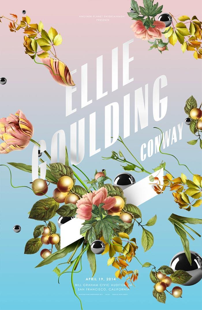 Ellie Goulding gig poster.
