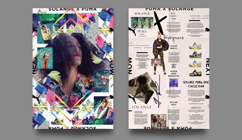 Puma X Solange sell-in mailer.
