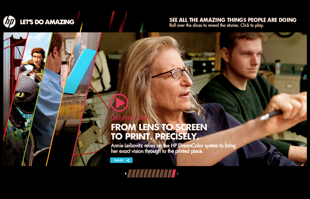 Annie Leibovitz for HP with 72andSunny