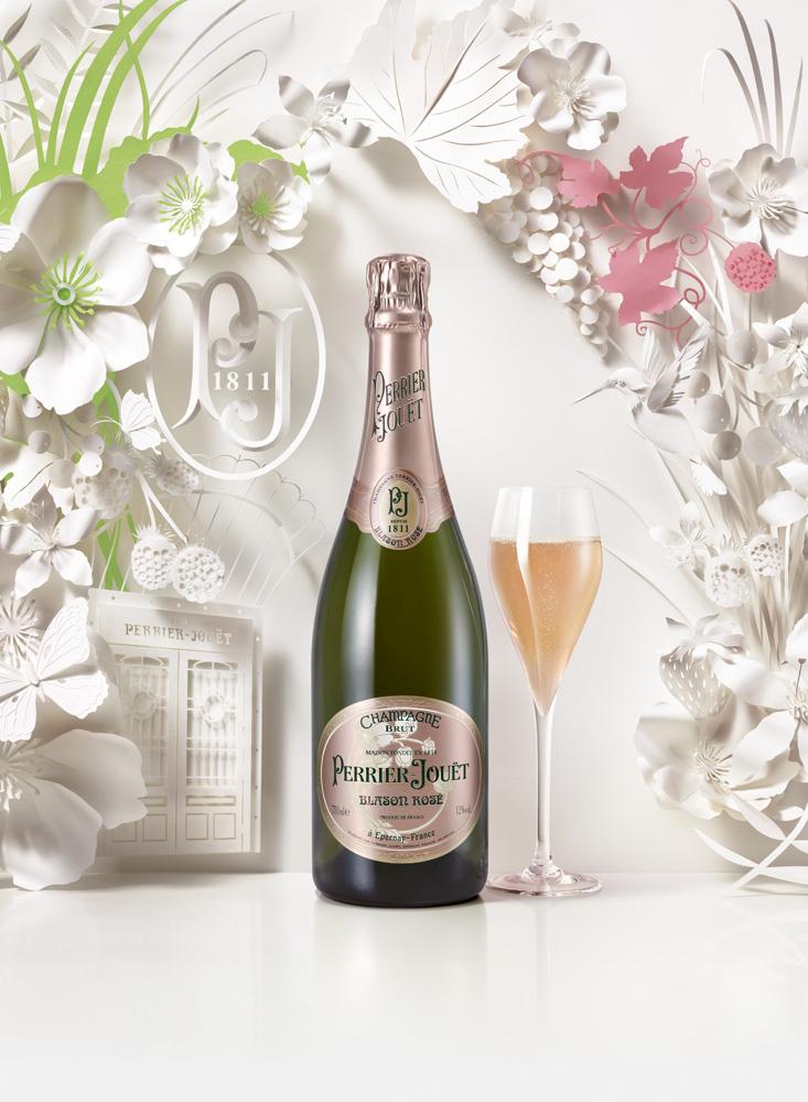 Jo Lynn Alcorn, Paper Artist, Perrier Jouet Champagne Campaign