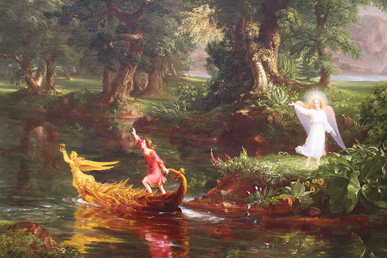Detail from  Life Voyages  by Thomas Cole.  1842