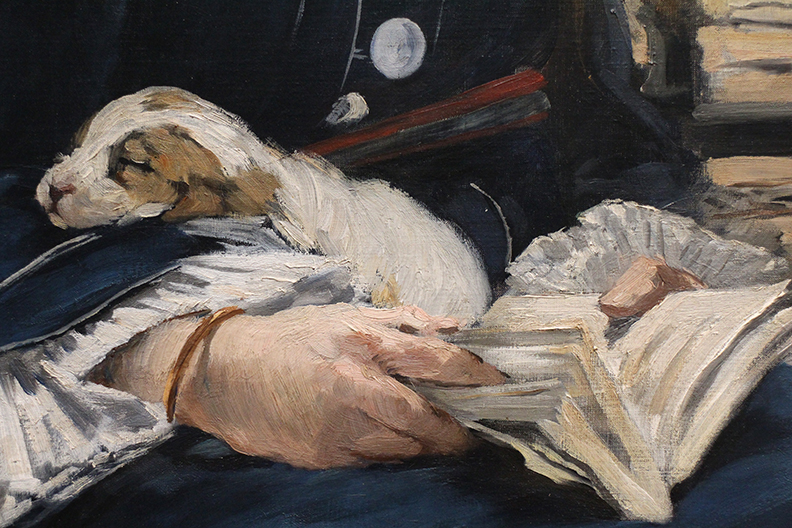 Detail from Gare Saint-Lazare.  Edouard Manet.  1873.  The master of the mark.