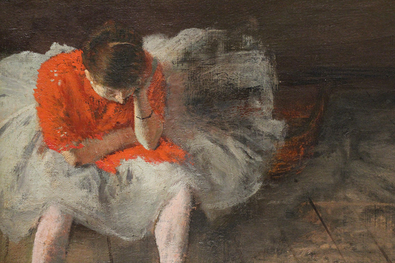 Detail from an Edgar Degas painting.  I have searched National's collection and the web and can't find this painting.  hmmm