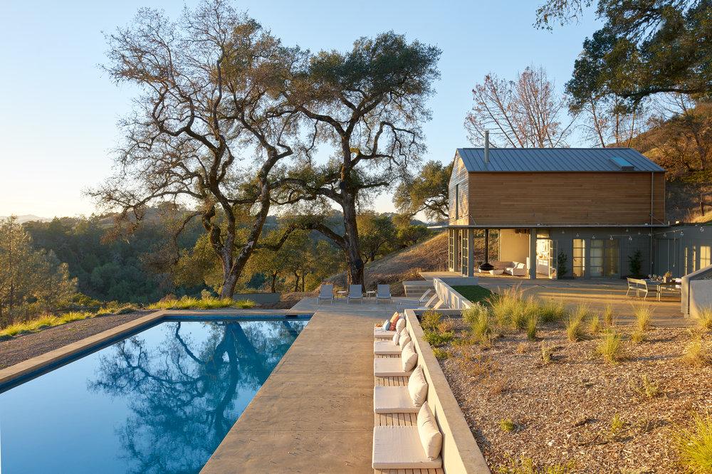 Kleman Design. Pool House. Geyserville, CA