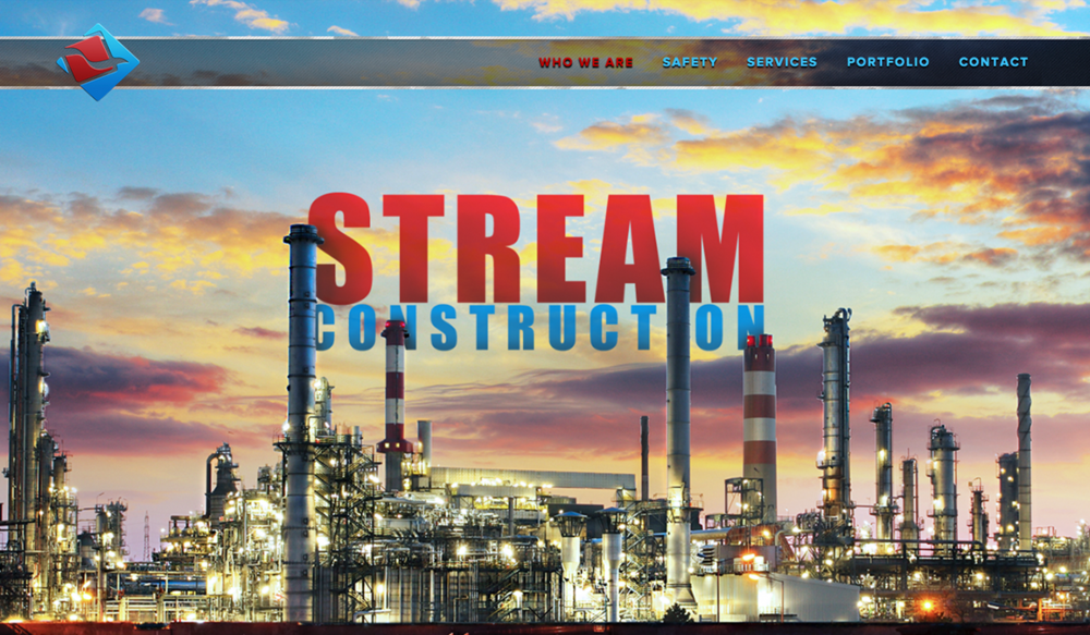 Stream Construction, Engineering & Construction Web Design