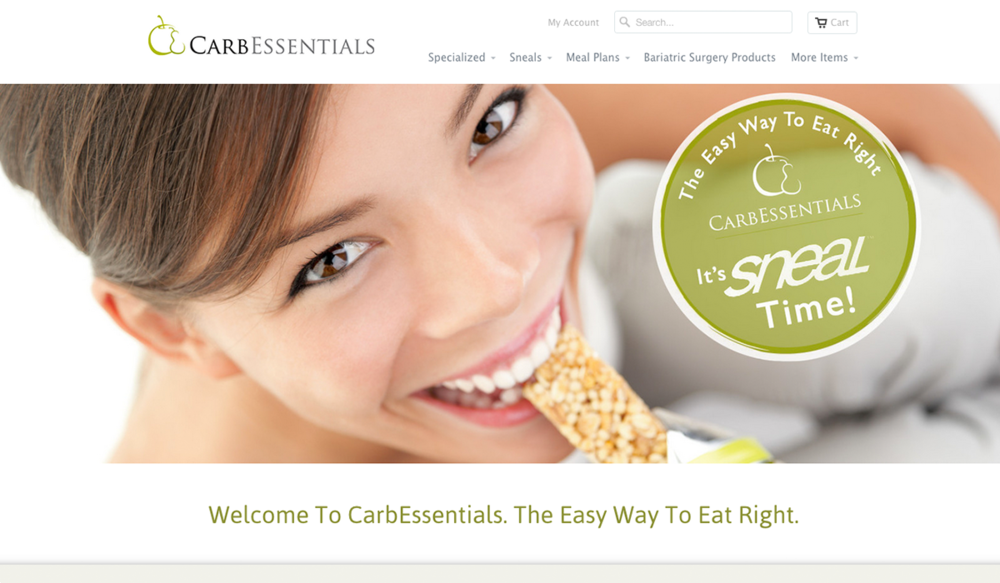 Carb Essentials, Retail & E-Commerce Web Design