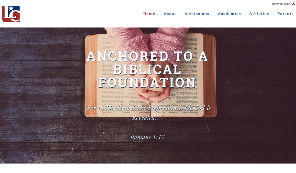 Liberty Christian School, Publishing & Education Web Design