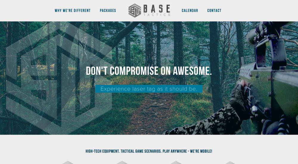 BaseTactics, Sports & Fitness Web Design