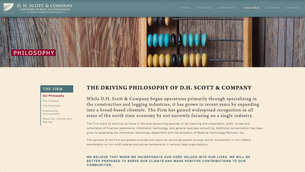DH Scott & Company, CPA & Attorney Website Design