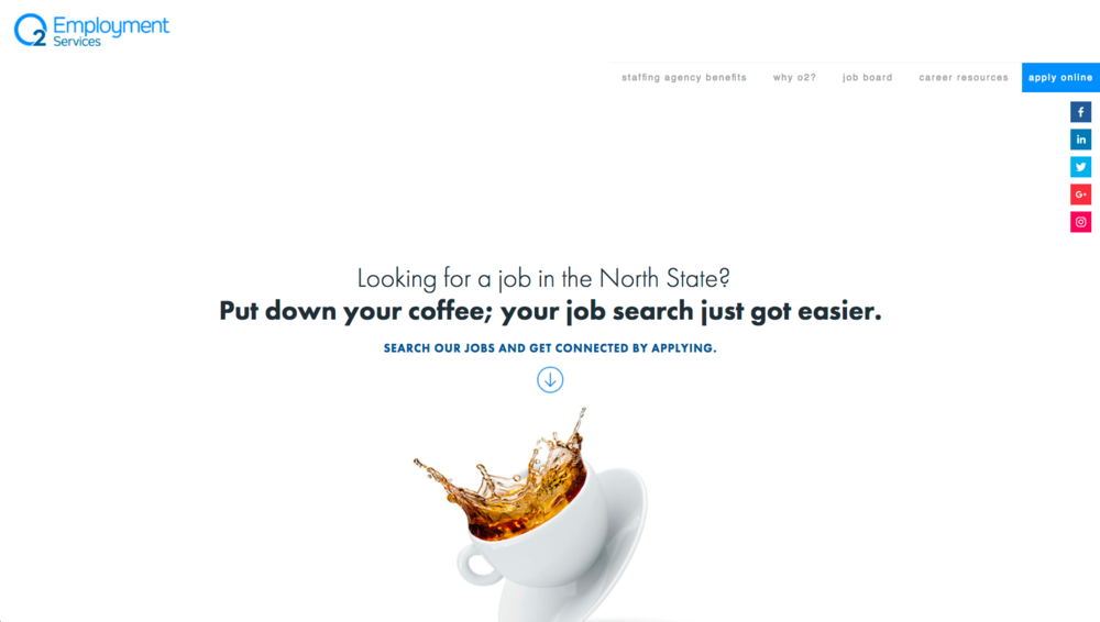 O2 Employment Services Website