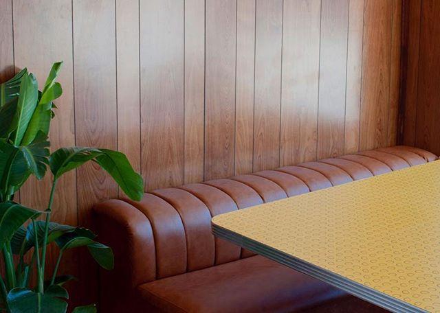 That cozy corner #lloydies #restaurantdesign #woodpaneling