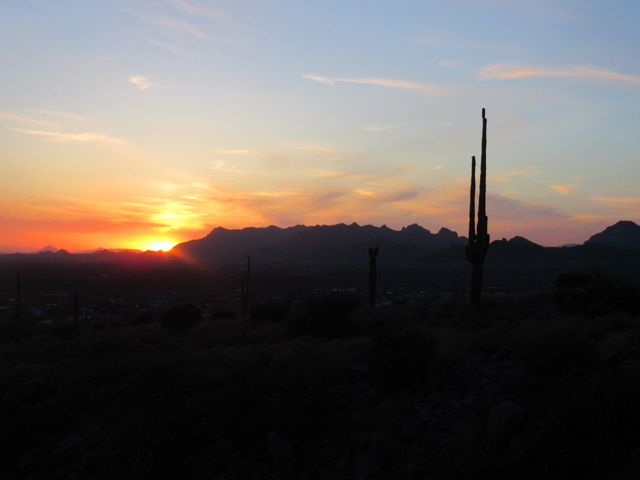 Sunset at Apache Junction