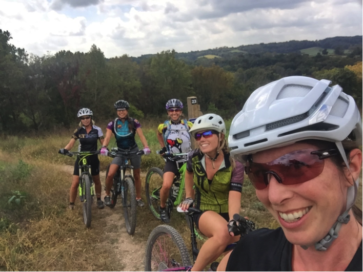 Missouri Lady Shredders L to R: Beth Weimer, Ashley O'Reilly, Diane Diebold, Lori Livingston, and Me
