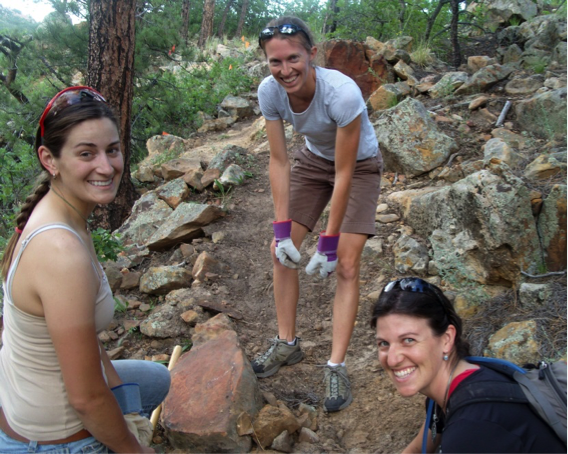 Photo Credit: Jessica Conner. WMBA members volunteer for Medicine Wheel Trail Advocates.