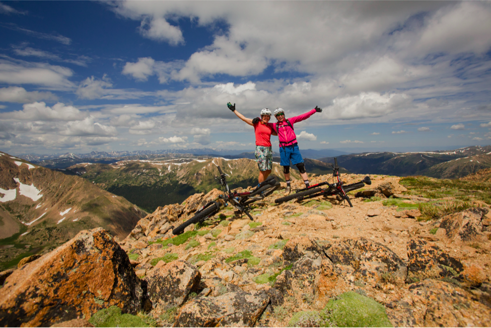 Photo Credit: Lisa Seaman Photography. Lisa and I celebrating at the summit!