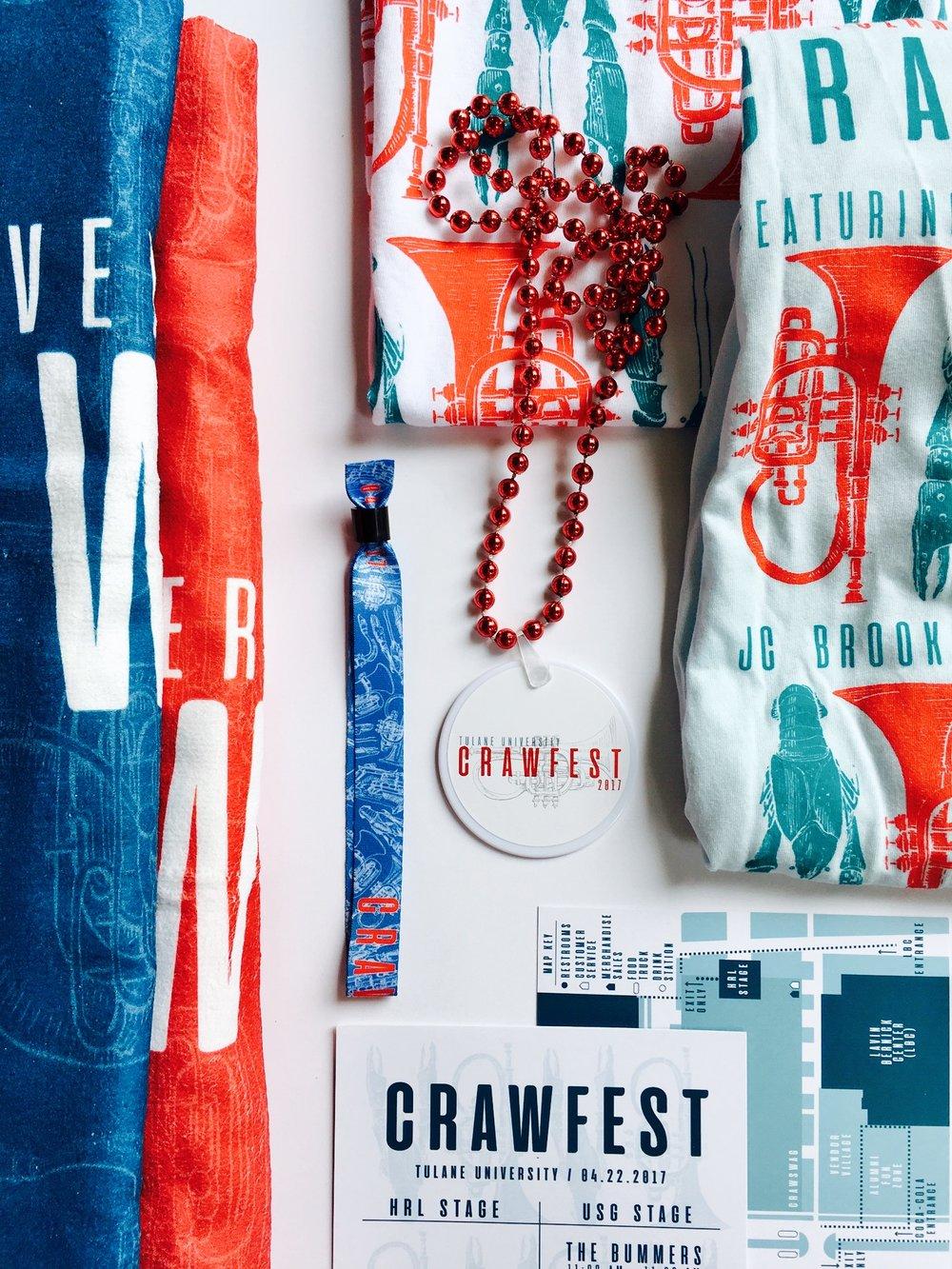 crawfest branding design -