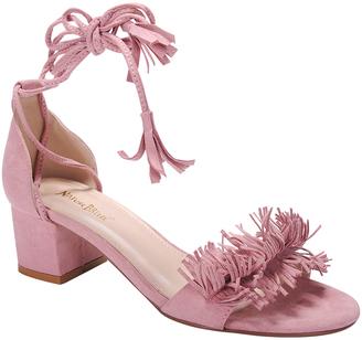 Pink Fringed Sandals