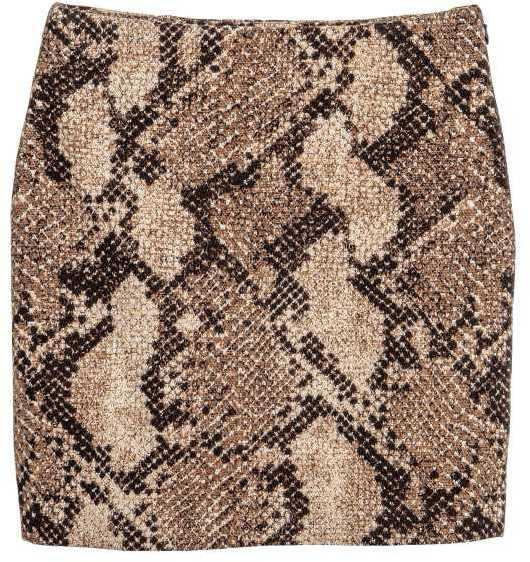 Snakeskin skirt H&M