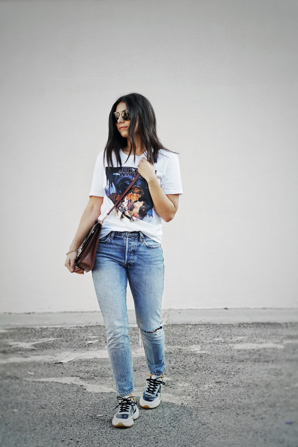 With Jeans & A Tee -