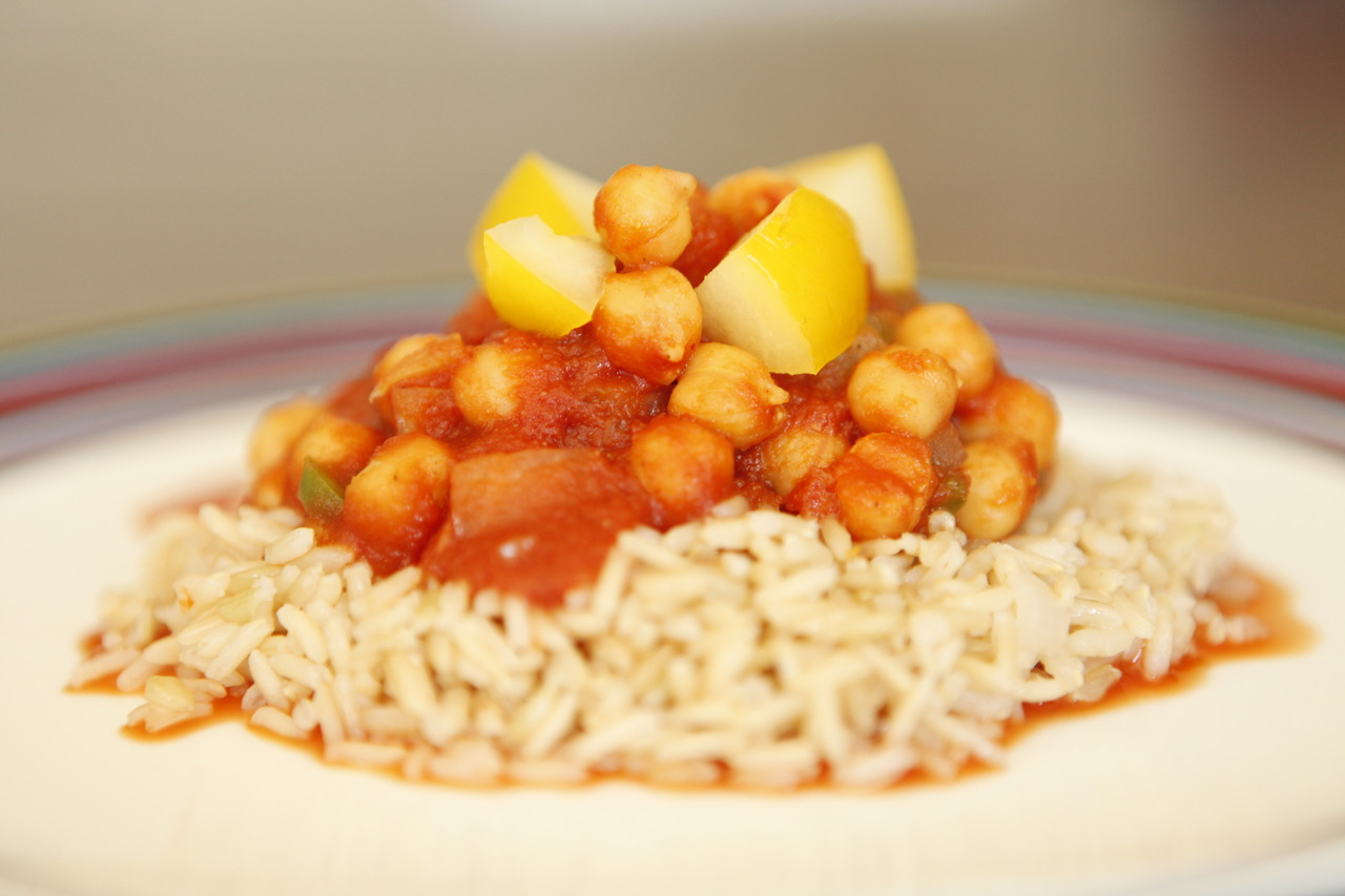 Chole (Garbanzo Bean) Curry w/Rice