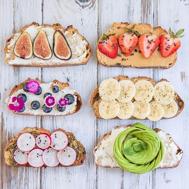 Toasting to an awesome day! Make your own toast. I'm making a @lepainquotidien gluten-free toast topped with almond butter, chia seeds and avocado rose. ✨What's your favorite toast?✨ / 💖 📸 @choosingchia #breakfast #quick #easy #delicious #yummy #fruits #avocado