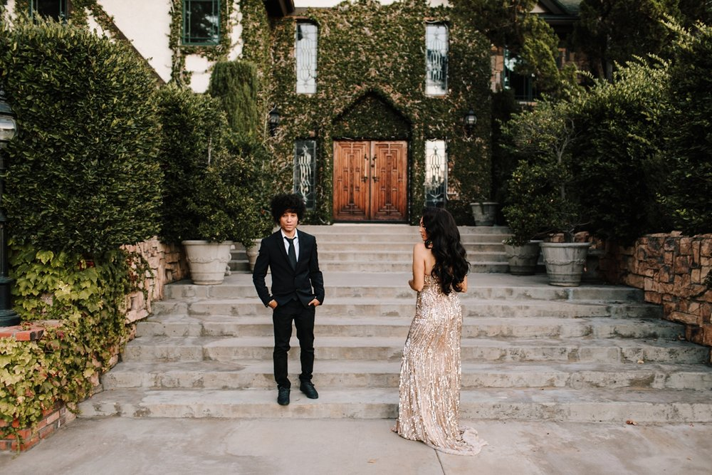 Estate engagement session in Los Angeles