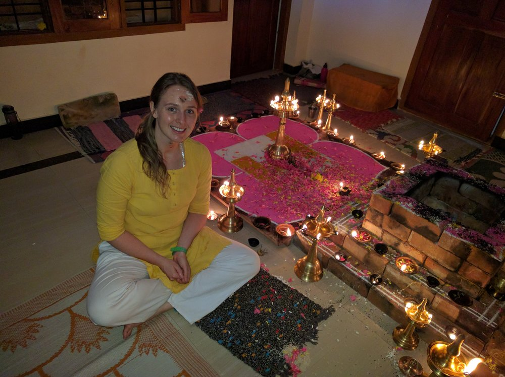 "Durga - Durga has lived a disciplined yogic life since the age of 22 when she was initiated into the Sivananda Lineage.  For 5 years she lived a life of austerity, worked, studied, and taught yoga in various Sivananda Yoga and Vedanta Centres & Ashrams worldwide. Durga's classes are centered on the wisdom of the breath and its ability to open possibilities in the body beyond the physical and gently lead the mind into meditation.Her own recent health crisis has humbled her advanced practice into one of a beginner. As a result, she has become highly receptive to students with various physical pain and mental disturbance. Grounded in the knowledge generously passed down to her by a rich lineage of masters and teachers, she is ever ready to offer her heart full of experience and pass on yogic tools for your own journey, wherever you may be."" Health is Wealth, Peace of Mind is Happiness, Yoga Shows the Way"" - Swami Vishnudevananda"