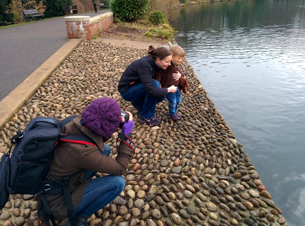 Little Miss C meeting the ducks