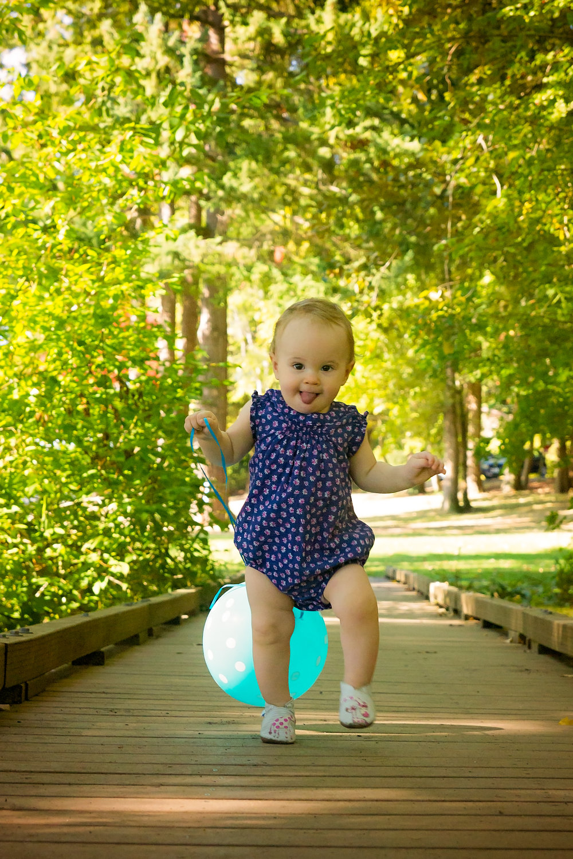 Zoe putting those walking skills to good use