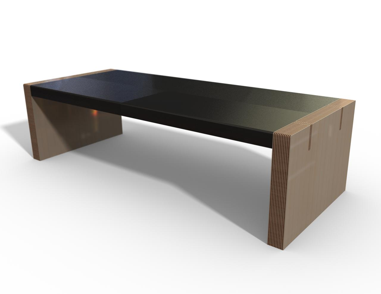 Coffee table rendering 1