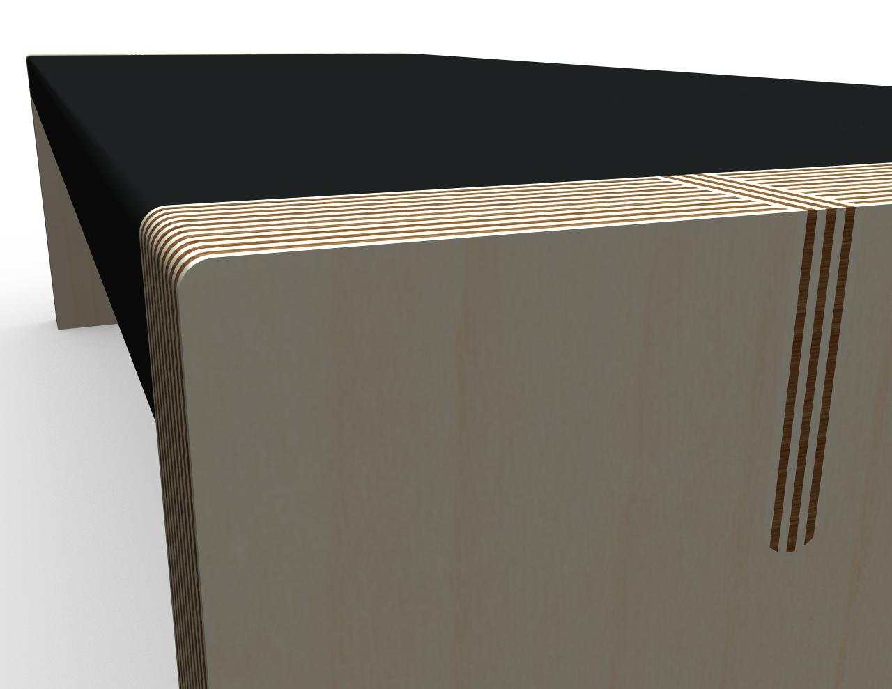 Coffee table detail rendering