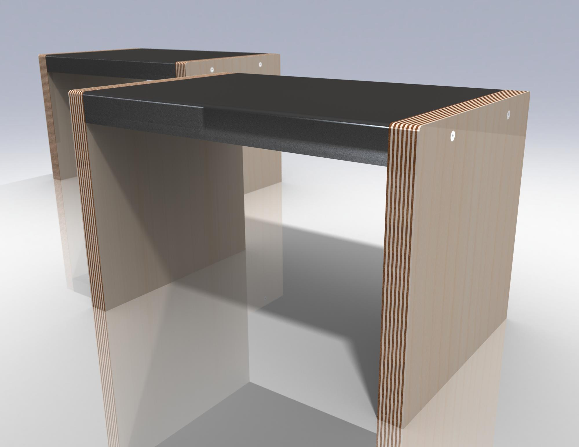 2 night stand iso rendering