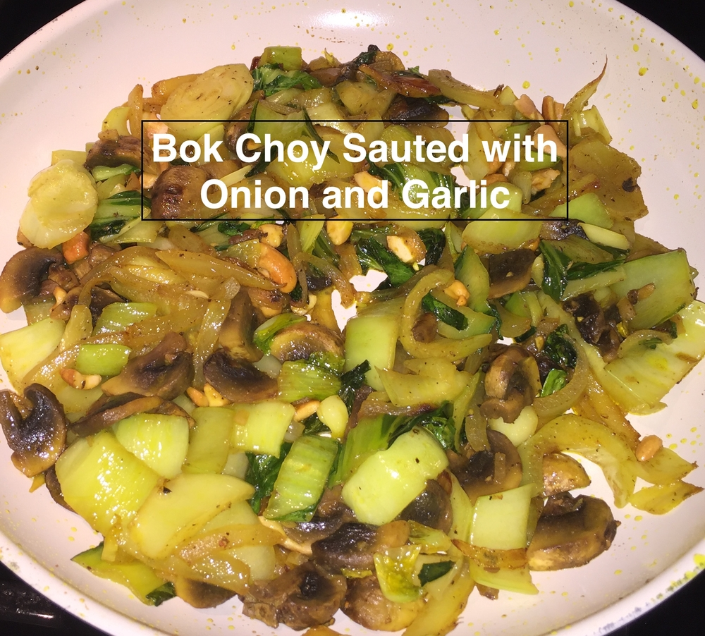 Bok Choy Sauted with Onion and Garlic