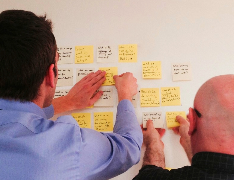 Revisiting a 2 week Sprint plan with a startup. Part of the Agile Canvas.