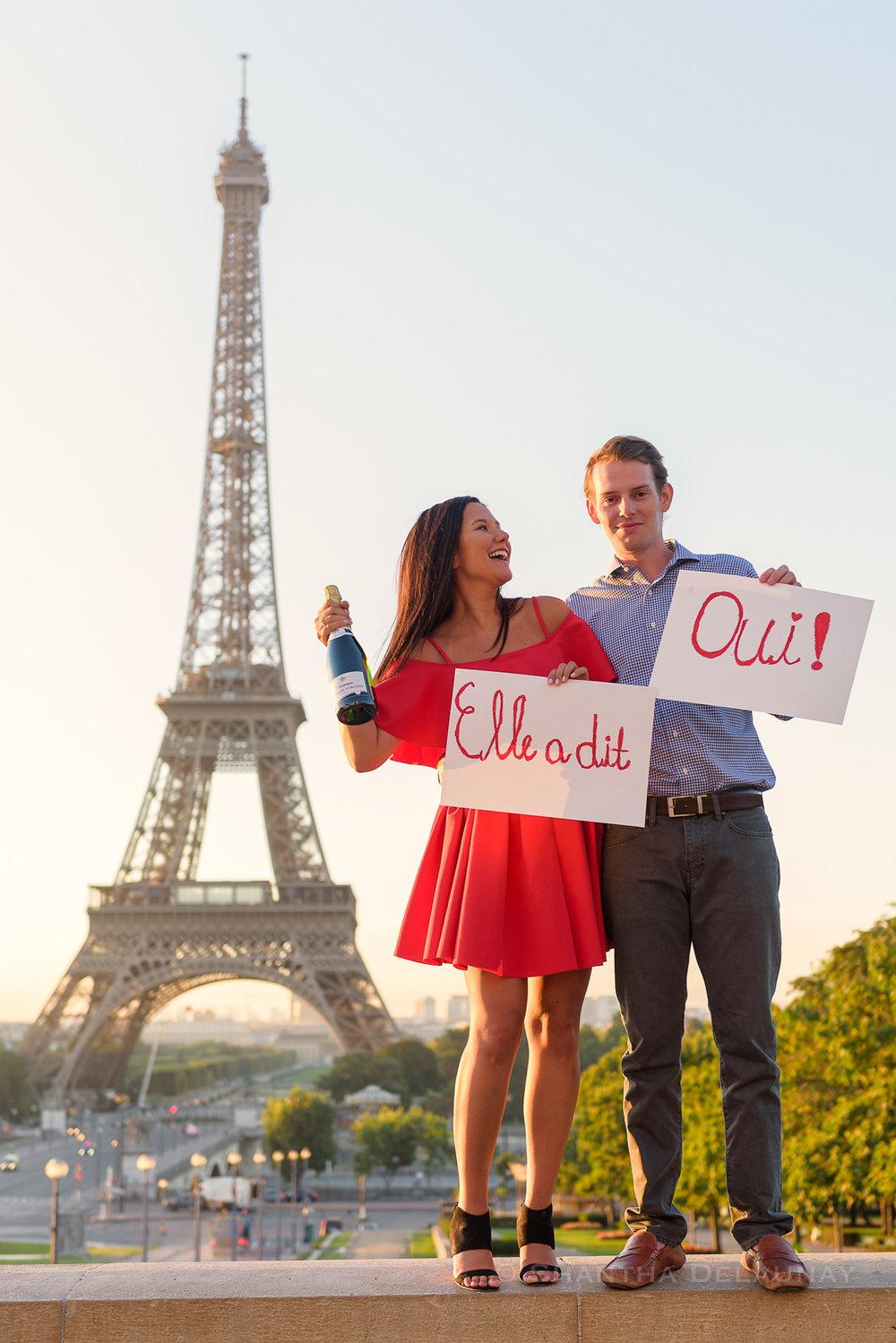Couples Engagement Photoshoot at Eiffel Tower Paris