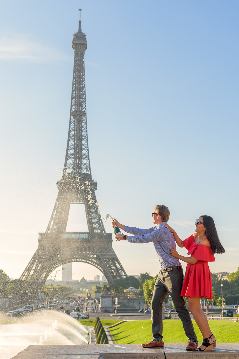 Couples Engagement Photoshoot at Eiffel Tower Paris