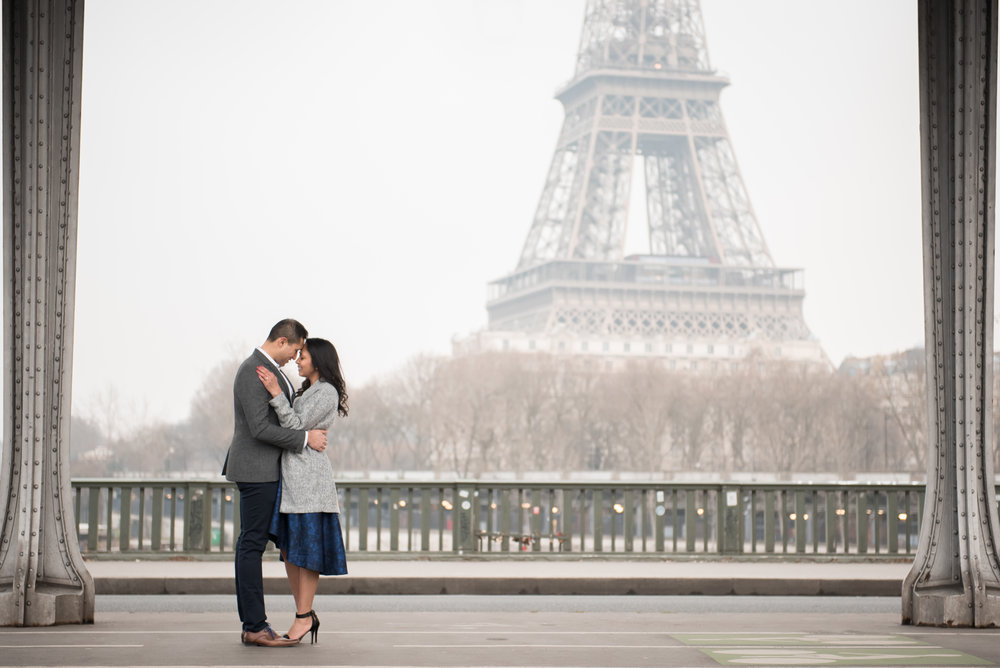 Couples Engagement Photoshoot at Eiffel Tower & Jardin Du Palais