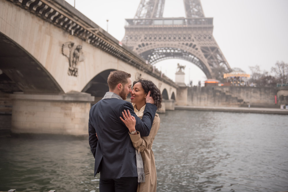 A paris winter engagement - Aaron & Angel