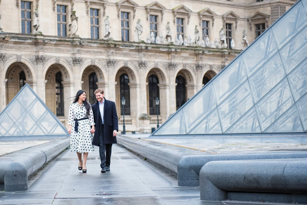 Copy of Copy of Paris photographer for engagement session at the Louvre