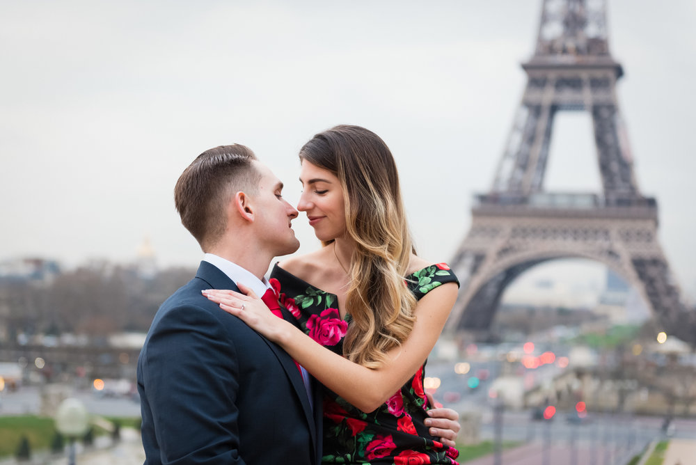 a paris winter engagement - Ken & Emily