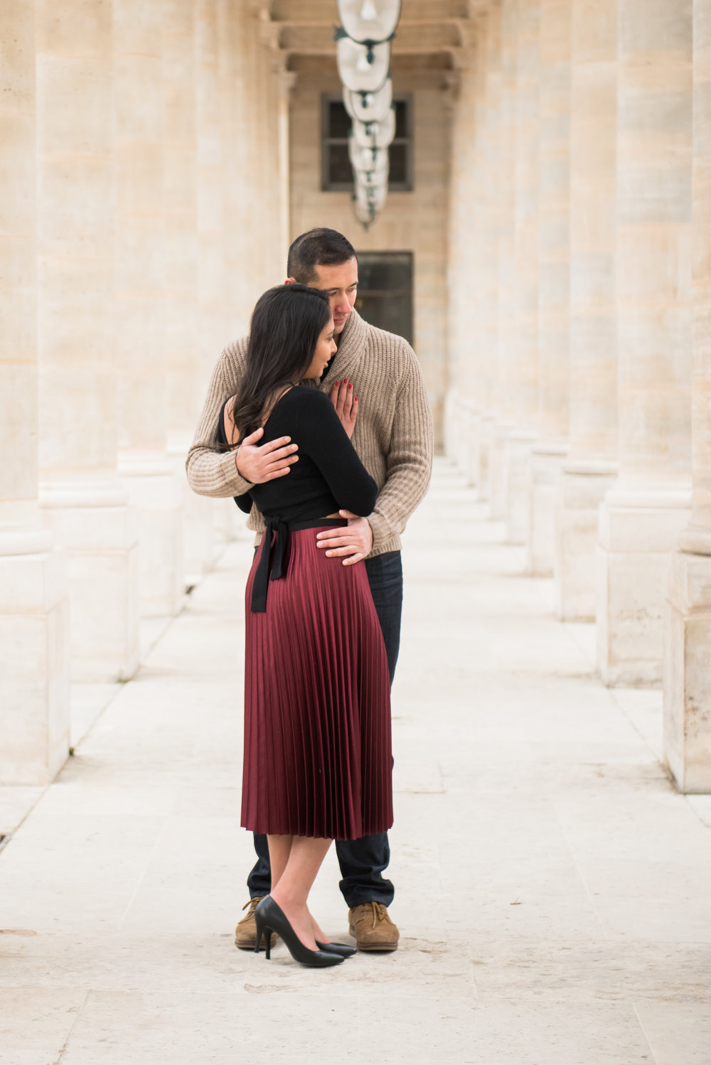 Couples Engagement Photoshoot at Eiffel Tower & Jardin Du Palais