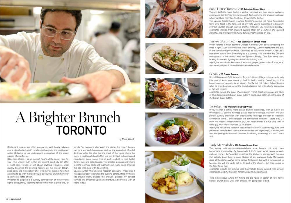 Toronto's best brunch - Pie magazine