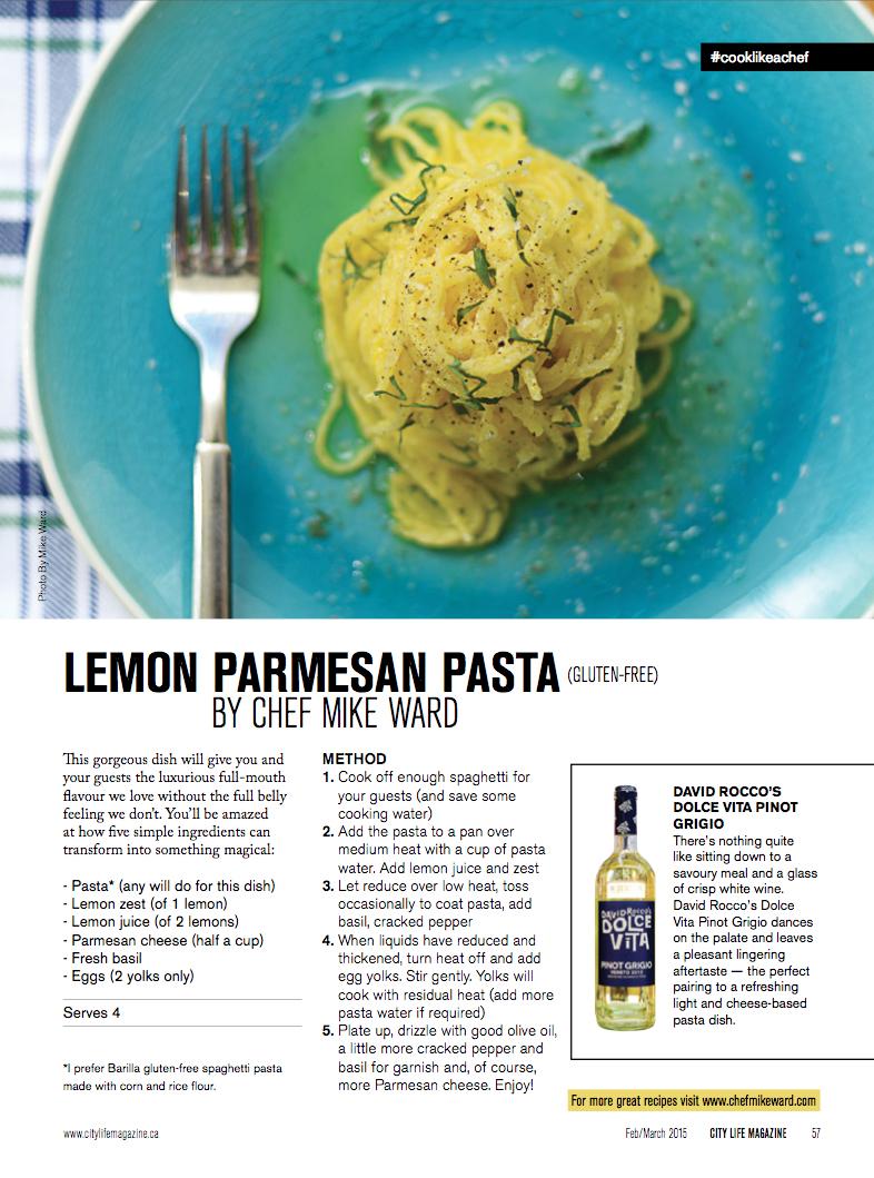 Lemon parmesan pasta - Citylife magazine