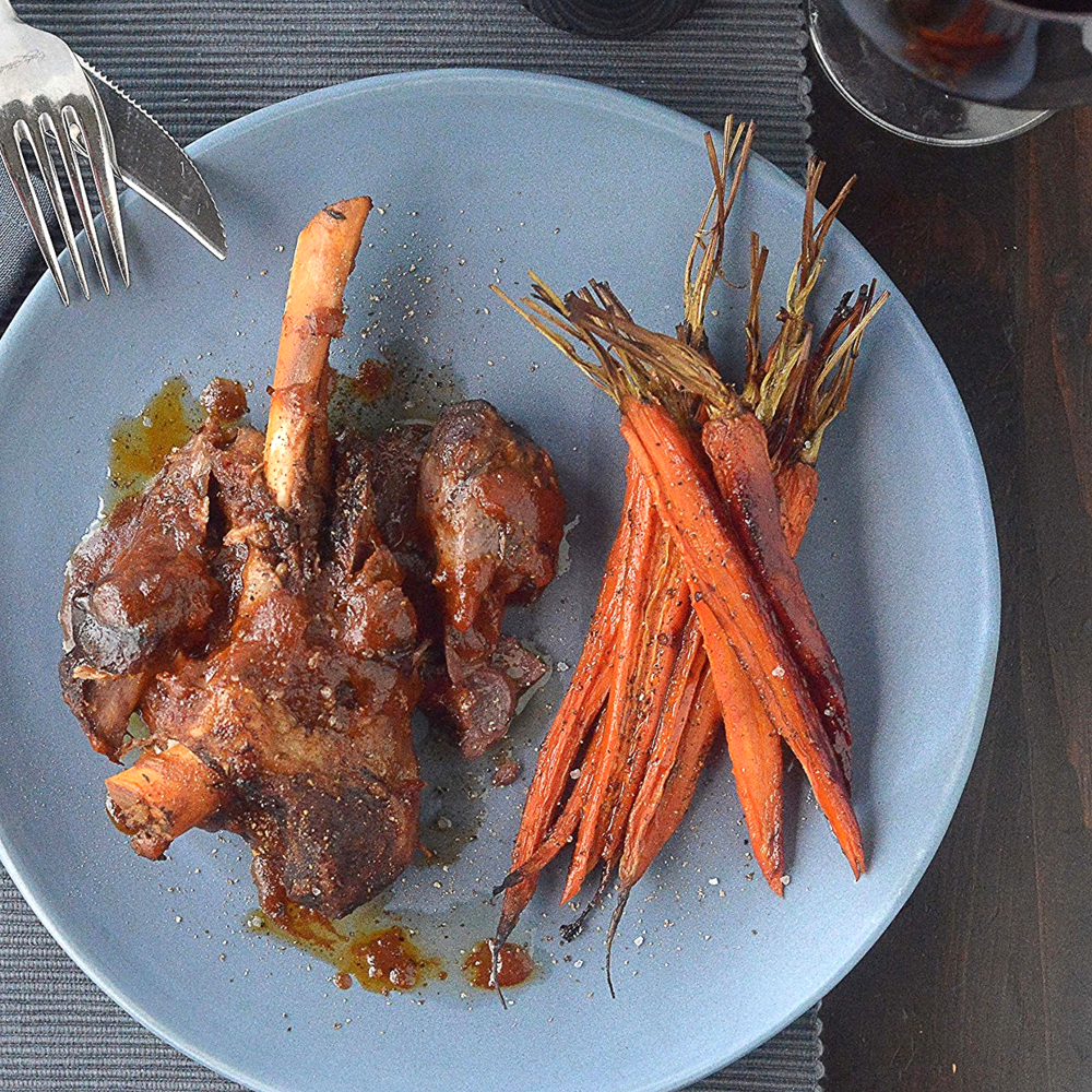 Braised Lamb Shanks w Cumin, Paprika & Sweet Carrots by Chef Mike Ward