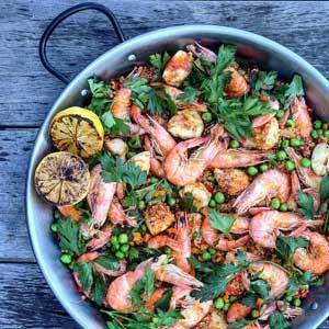 Chicken & Shrimp Quinoa Paella by Chef Mike Ward